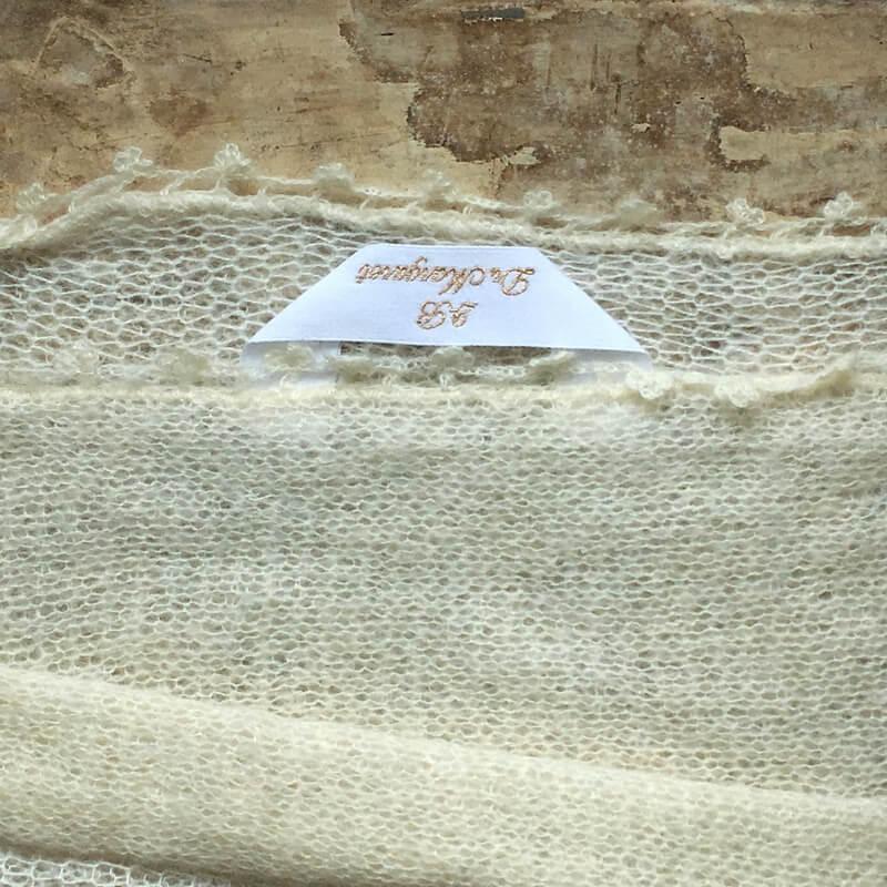 リボン:刺繍ネームタグabcマフラー