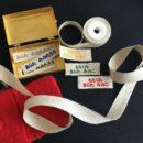 リネン麻リボン刺繍ネームタグ[ひらがな]6枚セット