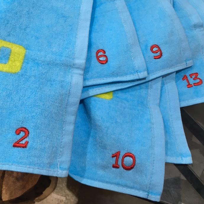 持ち込みタオルへ背番号刺繍のオーダー-02