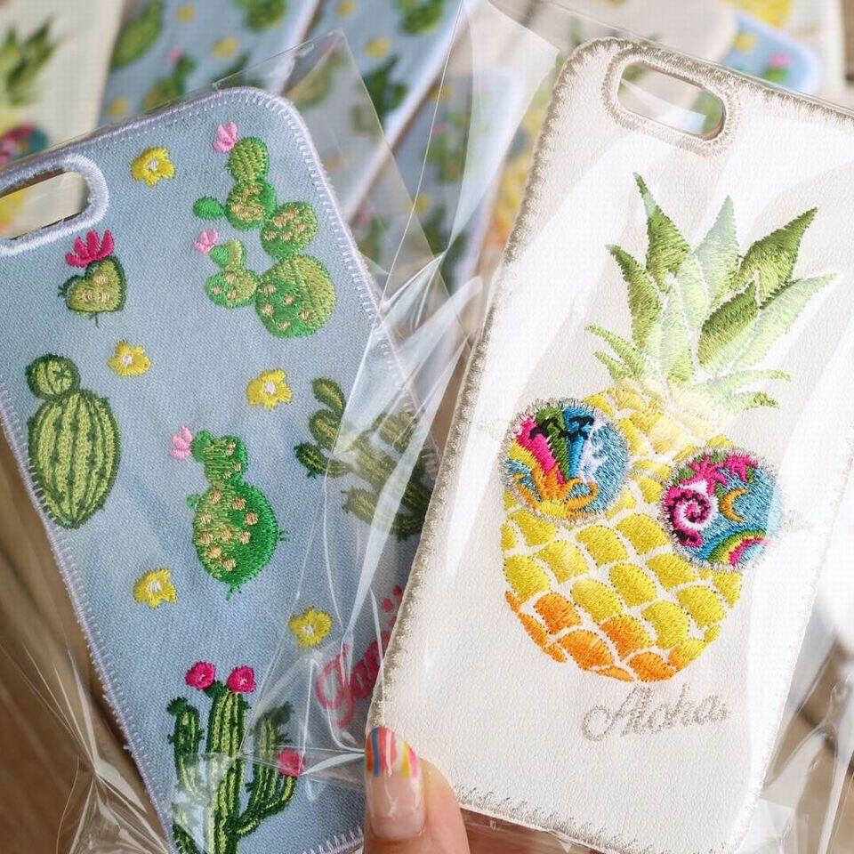 iPhone刺繡アップ