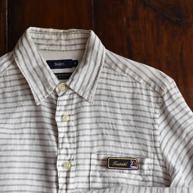 刺繍ネームプレート_ヨットシャツ