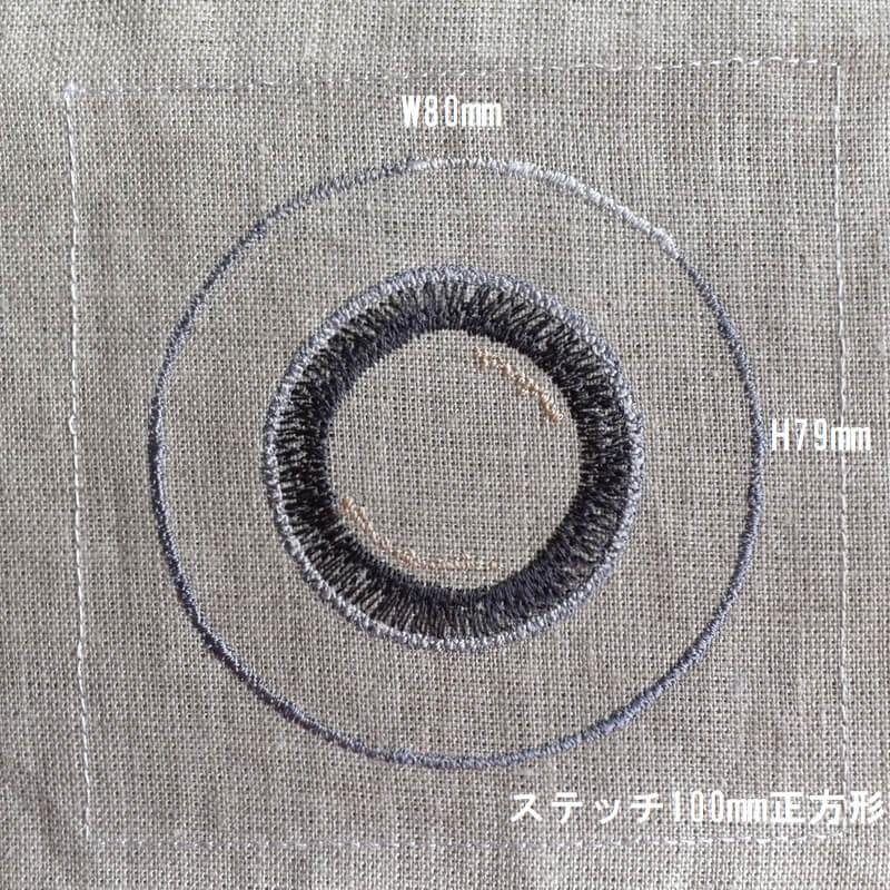 プレートロイヤル刺繍サイズ