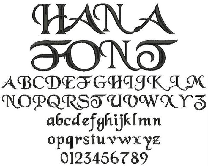 名入れできる刺繍フォント有り文字の種類と見本mimi刺繍