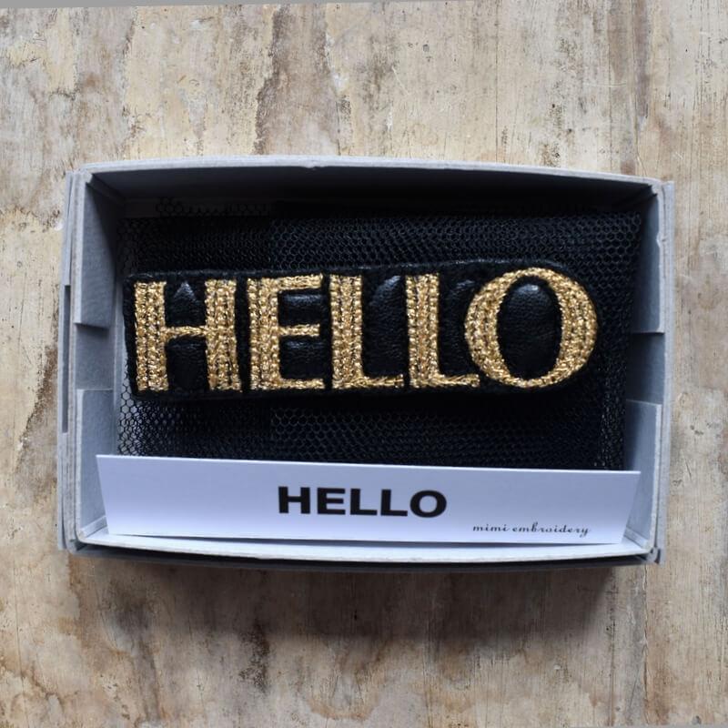 こんにちは[HELLO]刺繍クリップ箱入り
