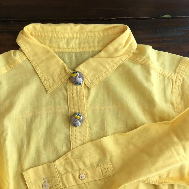 ペリカン22刺繍ボタンシャツ