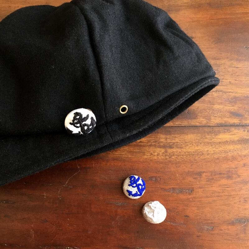 アンカー碇22刺繍ボタン帽子