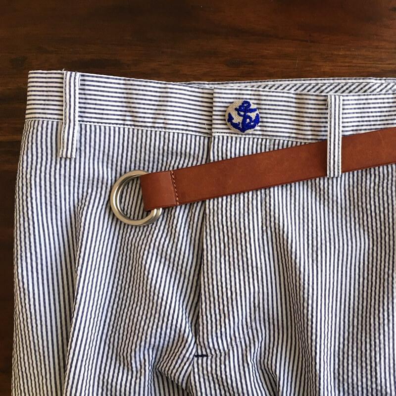 アンカー碇22刺繍ボタンパンツ