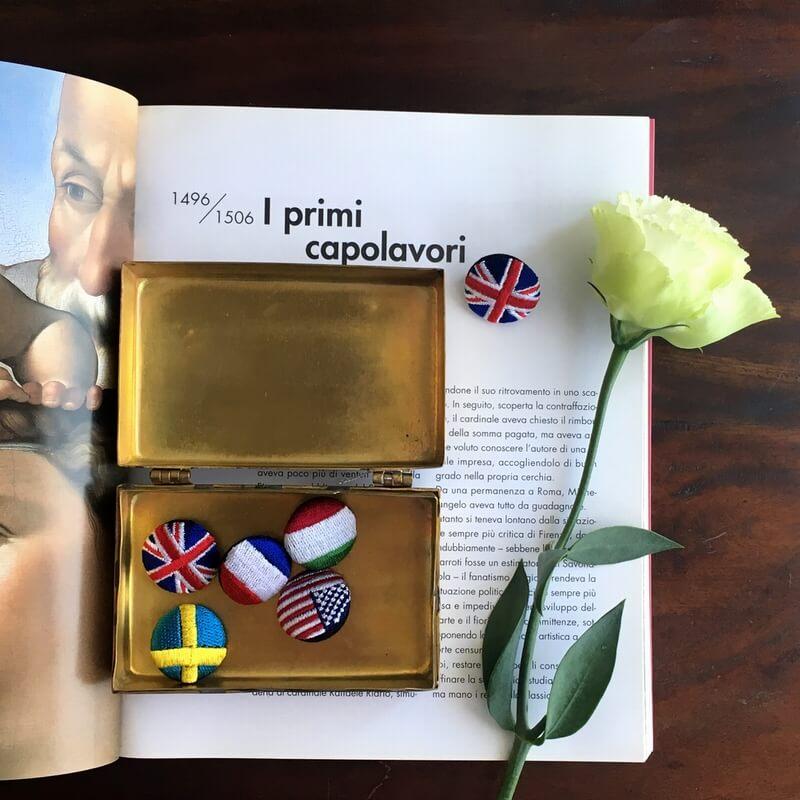 国旗22刺繍ボタンイメージ本
