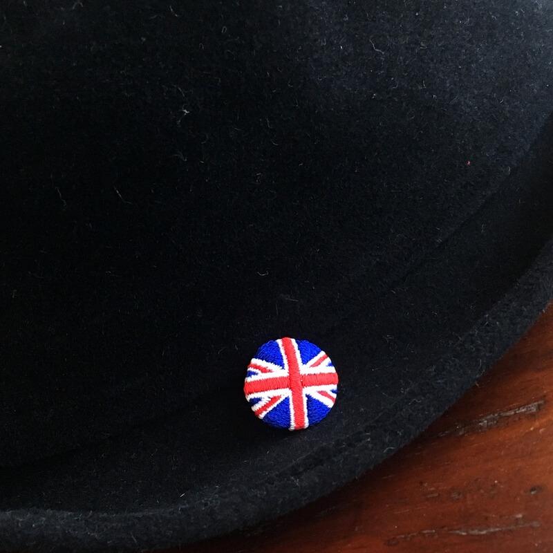 国旗22刺繍ボタンイギリス