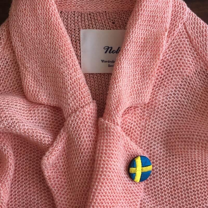 国旗22刺繍ボタンピンクジャケット